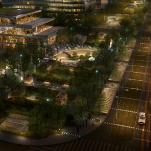 苏州太湖新城核心区 中轴大道 (照明概念)